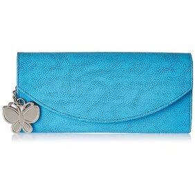 Butterflies Women Sky Blue Wallets BNS 2320NSBL