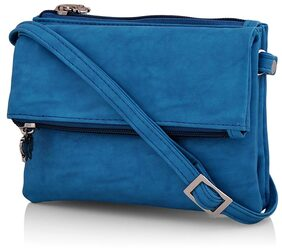 Butterflies Women Solid Pu - Sling Bag Blue
