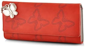 Butterflies Women Red Wallet BNS 2383RD