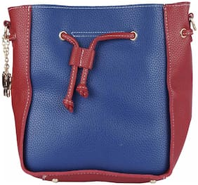Butterflies PU Women Handheld Bag - Blue