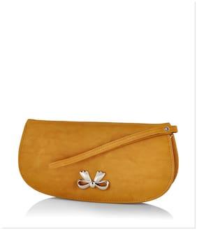 Butterflies Women Pu Wallet - Yellow