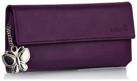 Butterflies Women PU Wallet - Purple