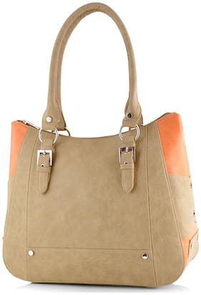 Butterflies Faux Leather Women Handheld Bag - Beige