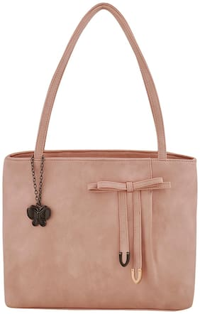 (Butterflies Women Handbag (Peach) (BNS 0697PCH)