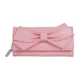 Butterflies Women Solid Faux Leather - Clutch Pink