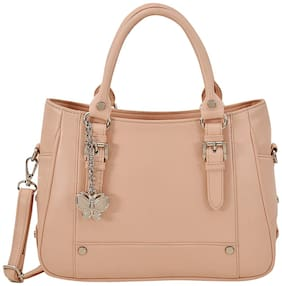 Butterflies Beige PU Handheld Bag