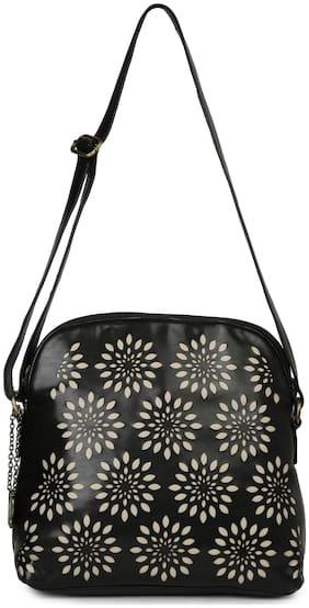 Butterflies Black PU Handheld Bag