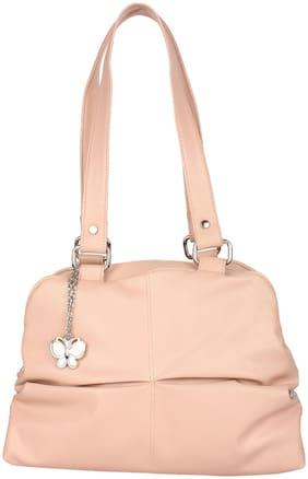 Butterflies Pink PU Handheld Bag