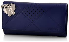 Butterflies Women Blue Wallet (bns 2385bl)