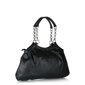 Butterflies Black Pu Handbag (5 Piece)