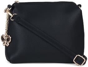 Butterflies Women Sling Bag (Black) (BNS-B-9040#BK)