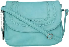 Butterflies Green PU Solid Sling Bag