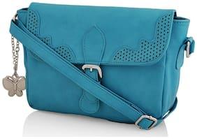 Butterflies Women Solid Pu - Sling bag Blue