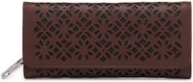 Butterflies Women Brown PU Wallet