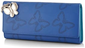 Butterflies Women Pink PU Wallet