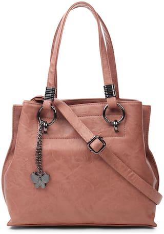 Butterflies Pink PU Handheld Bag - Handbag