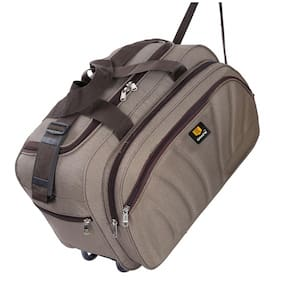 cabin size duffle bag brown color waterproof