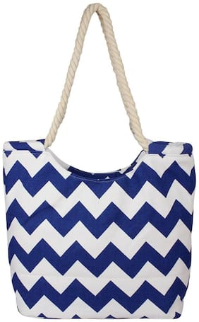 CARMER Blue Polyester Handheld Bag