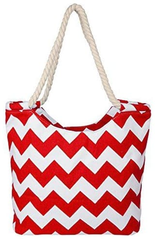 CARMER Red Polyester Handheld Bag