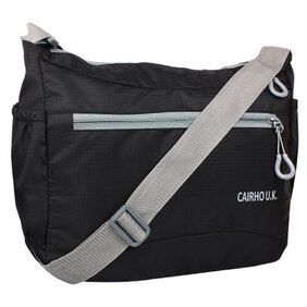 CAIRHO BLACK STYLISH & LIGHT WEIGHT  SLING BAG FOR UNISEX