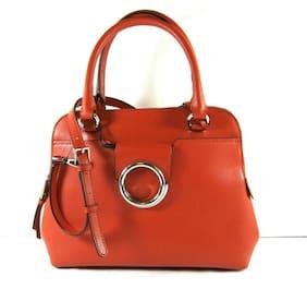 Calvin Klein NWT $248 Red Leather Reese Top Handle Satchel Purse Crossbody Zip
