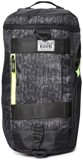 Flying Machine Polyester Men Duffle Bag - Black