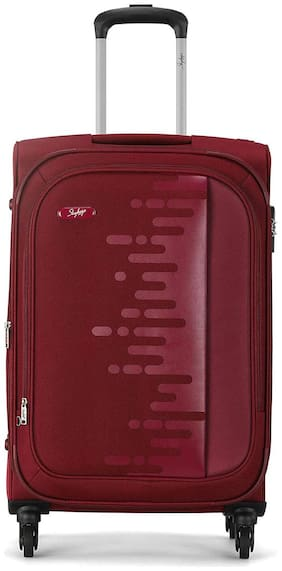 Skybags Small Size Briefcase ( Maroon , 4 Wheels )