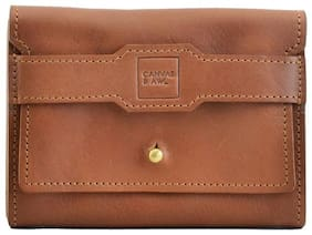 CANVAS & AWL Women Brown Leather Wallet
