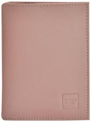 Canvas & Awl Genuine leather Pink Ladies Wallet (Big)