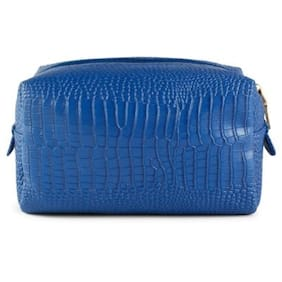 Cappuccino 22577BLUE-new Travel, cosmetic, utility printed design bag for women