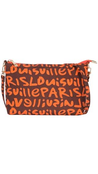 Cappuccino 22066 Orange Sling Bag (Pack Of 3)