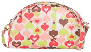cappuccino 22074Peach-Multi SLING BAGS (Pack Of 5)