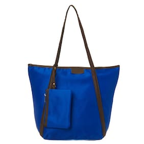 Cappuccino Blue Nylon Tote (Pack Of 3)