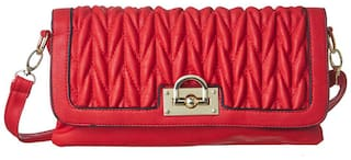 Cappuccino Red Ladies Sling Bag (Pack Of 3)