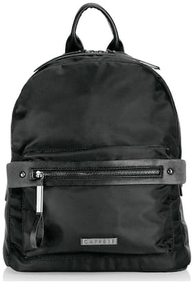 CAPRESE Black Faux Leather Backpack