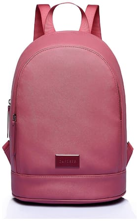 CAPRESE Pink Faux Leather Backpack
