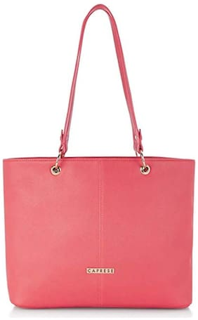 CAPRESE Women Solid Faux Leather - Tote Bag Pink