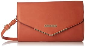 CAPRESE Women Pink Leather Clutch