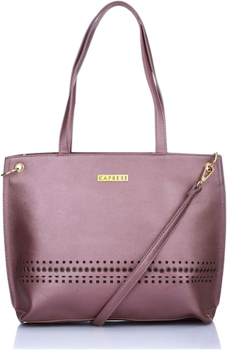 CAPRESE Purple Faux Leather Handheld Bag