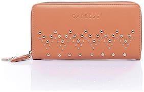 CAPRESE Faux Leather Tan Wallets For Women