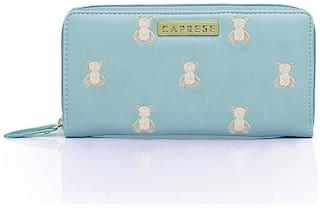 CAPRESE Faux Leather Blue Wallets For Women