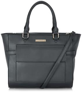 CAPRESE Black Faux Leather Shoulder Bag