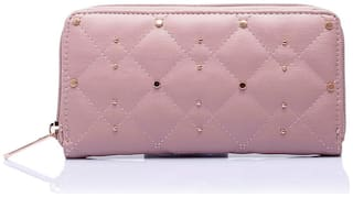 CAPRESE Faux Leather Pink Wallets For Women
