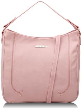 CAPRESE Pink Faux Leather Satchel