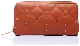 CAPRESE Faux Leather Brown Wallets For Women