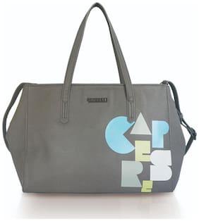 CAPRESE Grey Faux Leather Satchel