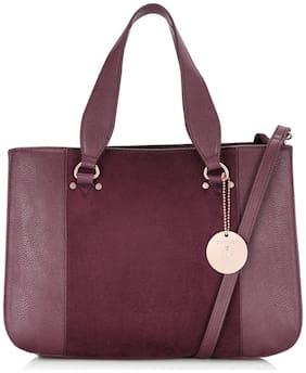 CAPRESE Purple Faux Leather Satchel