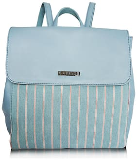 CAPRESE Blue Faux Leather Backpack