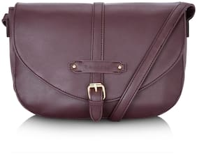 CAPRESE Purple Faux Leather Solid Sling Bag