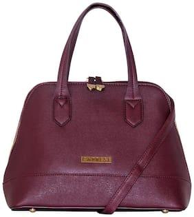 CAPRESE Faux Leather Women Handheld Bag - Maroon